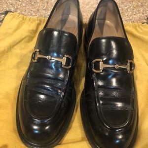 Gucci horsebit loafer for women blk 8.5 like new